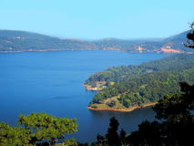 Umiam sjö (Barapani sjön), Shillong, Meghalaya, Indien, Asien royaltyfri foto
