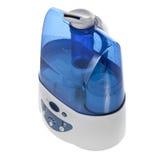 Umidificatore con il purificatore ionico dell'aria isolato fotografia stock libera da diritti