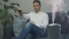 Umidificatore dell'aria video d archivio