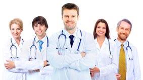 Uśmiechnięci lekarzi medycyny Zdjęcia Stock