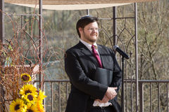 Uśmiechnięty Brodaty rabin Obraz Royalty Free