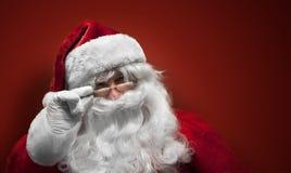 Uśmiechnięta Święty Mikołaj twarz Fotografia Stock