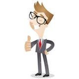 Uśmiechnięty biznes daje aprobatom Obrazy Stock