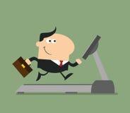 Uśmiechnięty biznesmena postać z kreskówki Obraz Stock