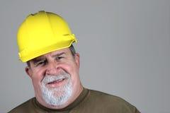uśmiechnięty budowa pracownik Fotografia Stock