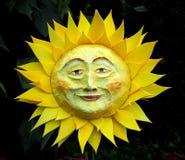 Uśmiechnięty słońce Lub słonecznik Zdjęcia Royalty Free