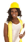 Uśmiechu ciężkiego kapeluszu plany Obraz Stock