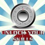 umiejętności otwierają twój Obrazy Stock