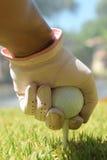 Umieszczać piłkę golfową zdjęcie stock