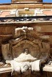 Umieszcza des Vosges pavillon De Los angeles Reine Paryskiego architektonicznego szczegółu zdjęcie stock