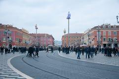 Umieszcza Massena w Ładnym podczas zima dnia Zdjęcia Stock