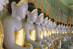 Umin Thounzeh temple in myanmar Royalty Free Stock Image