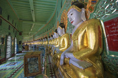 Umin Thounzeh temple in myanmar Royalty Free Stock Images