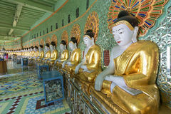 Umin Thounzeh temple in myanmar Royalty Free Stock Photo