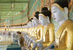 Umin Thounzeh temple in myanmar Royalty Free Stock Photography
