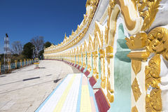 Umin Thounzeh temple in myanmar Stock Photo
