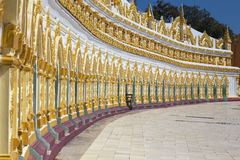 Umin Thounzeh temple in myanmar Stock Photography