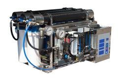 Umkehr-Osmose-System. Lokalisiert über Weiß Lizenzfreies Stockbild