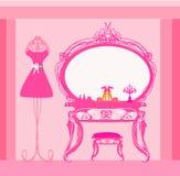 Umkleidekabine der eleganten Art Stockbild