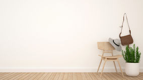 Umkleidekabine und Raum für Grafik - Wiedergabe 3D Stockfoto