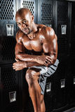 Umkleideraum-Athlet Lizenzfreies Stockfoto
