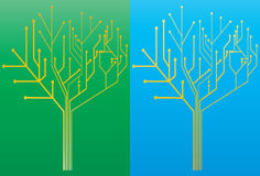 Umkreisen Sie Baum 2 vektor abbildung