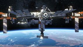Umkreisende Erde der internationalen Weltraumstation vektor abbildung