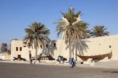 Umm Al Quwain Museum. UMM AL QUWAIN, UAE - NOV 30, 2016: The museum fort in Umm Al Quwain. United Arab Emirates, Middle East stock photo