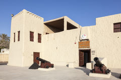 Umm Al Quwain Museum. UMM AL QUWAIN, UAE - NOV 30, 2016: The museum fort in Umm Al Quwain. United Arab Emirates, Middle East stock photography