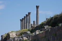 Umm Qais świątyni kolumny Fotografia Royalty Free