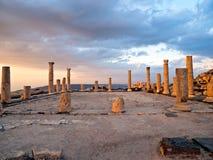 Umm Qais (Gadara), Jordanië Royalty-vrije Stock Afbeeldingen