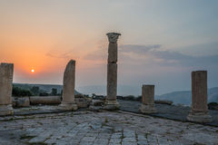 Umm Qais gadara romans ruins Jordan Stock Photo