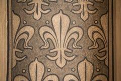 Ummauern Sie Dekorationselement in Aachen Rathaus - Rathaus, Deutschland Lizenzfreies Stockfoto
