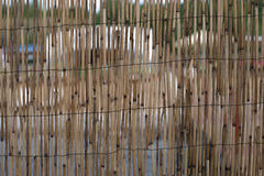 Ummauern Sie gemachtes †‹â€ ‹des Bambusses Lizenzfreie Stockfotos
