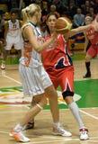 UMMC contra a cesta Taranto Euroleague 2009-2010 de Cras. Fotografia de Stock