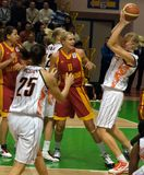 UMMC CONTRA Galatasaray. Euroleague 2009-2010. Foto de Stock Royalty Free