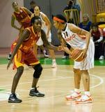 UMMC CONTRA Galatasaray. Euroleague 2009-2010. Imagens de Stock Royalty Free