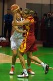 UMMC CONTRA Galatasaray. Euroleague 2009-2010. Imagens de Stock