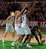UMMC contra o explorador de saída de quadriculação Casares Euroleague 2009-2010. Imagem de Stock Royalty Free