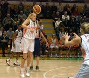 UMMC contra o explorador de saída de quadriculação Casares. Euroleague 2009-2010. Fotos de Stock Royalty Free