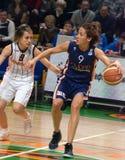 UMMC contra o explorador de saída de quadriculação Casares Euroleague 2009-2010. Fotos de Stock Royalty Free