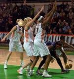 UMMC contra ROS Casares Euroleague 2009-2010. Imagen de archivo libre de regalías