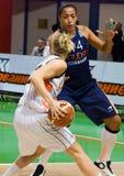 UMMC contra ROS Casares. Euroleague 2009-2010. Imágenes de archivo libres de regalías