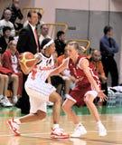 UMMC contra TEO. Baloncesto Euroleague 2009-2010 de las mujeres Foto de archivo libre de regalías