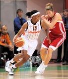 UMMC contra TEO. Baloncesto Euroleague 2009-2010 de las mujeres Imagen de archivo libre de regalías