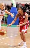 UMMC contra TEO. Basquetebol Euroleague 2009-2010 das mulheres Imagens de Stock
