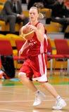 UMMC contra TEO. Basquetebol Euroleague 2009-2010 das mulheres Fotos de Stock