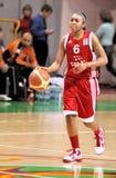 UMMC contra TEO. Basquetebol Euroleague 2009-2010 das mulheres Fotografia de Stock
