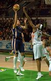 UMMC contre ROS Casares. Euroleague 2009-2010. Photographie stock libre de droits
