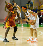 UMMC CONTRO Galatasaray. Euroleague 2009-2010. immagini stock libere da diritti